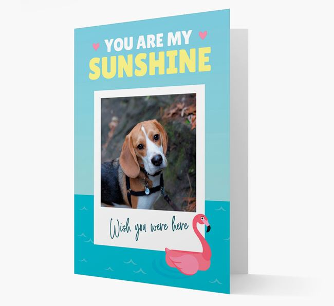 'You Are My Sunshine' Card with Photo of your Beagle