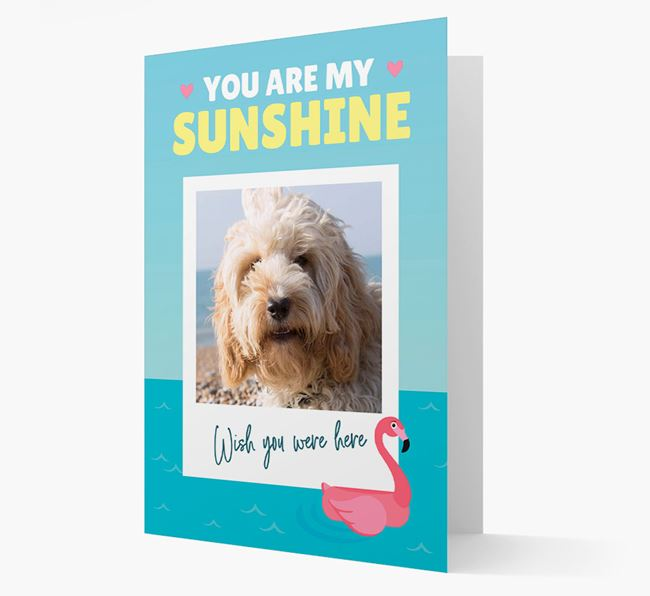 'You Are My Sunshine' Card with Photo of your Cockapoo