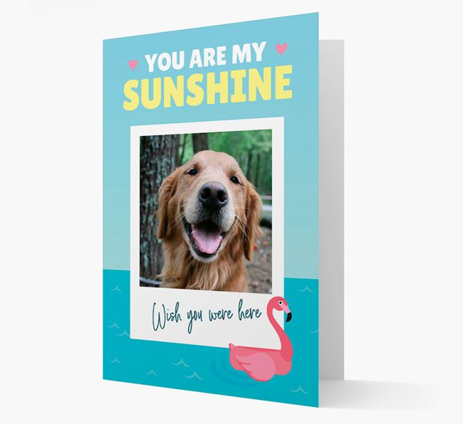 'You Are My Sunshine' Card with Photo of your Golden Retriever
