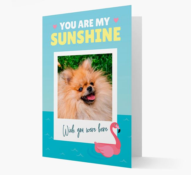 'You Are My Sunshine' Card with Photo of your Pomeranian