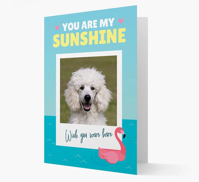 'You Are My Sunshine' Card with Photo of your Poodle