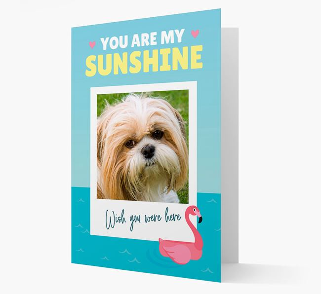 'You Are My Sunshine' Card with Photo of your Shih Tzu