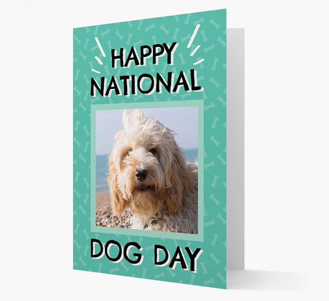 'Happy National Dog Day' Card with Photo of your Cockapoo