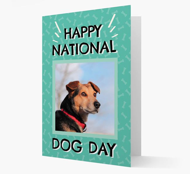 'Happy National Dog Day' Card with Photo of your Corgi