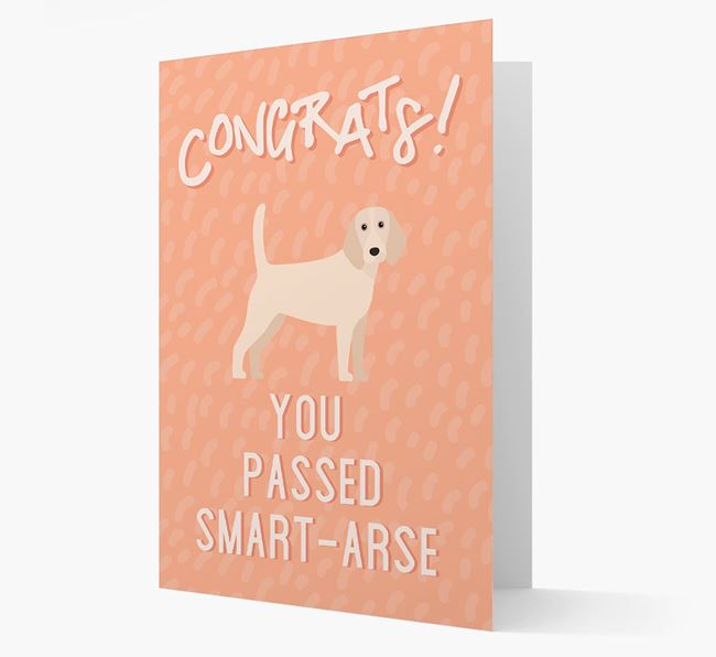 'Congrats! You Passed' Card with Beagle Icon