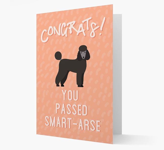 'Congrats! You Passed' Card with Poodle Icon