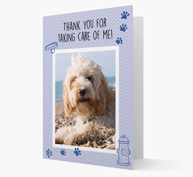 'Thank You For Taking Care Of Me' Card with Photo of your Cockapoo