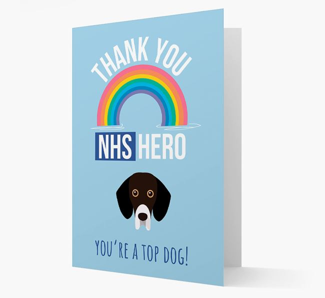 'Thank You NHS Hero' Card with Bassador Icon