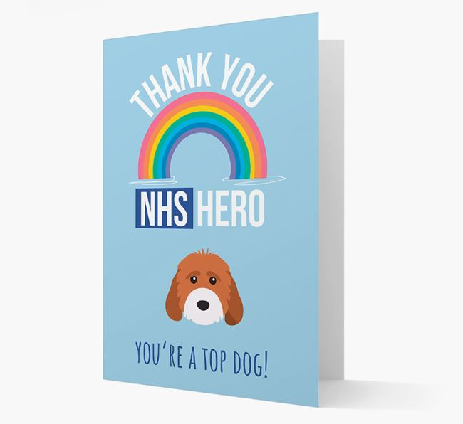 'Thank You NHS Hero' Card with Cockapoo Icon