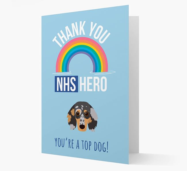 'Thank You NHS Hero' Card with Dachshund Icon