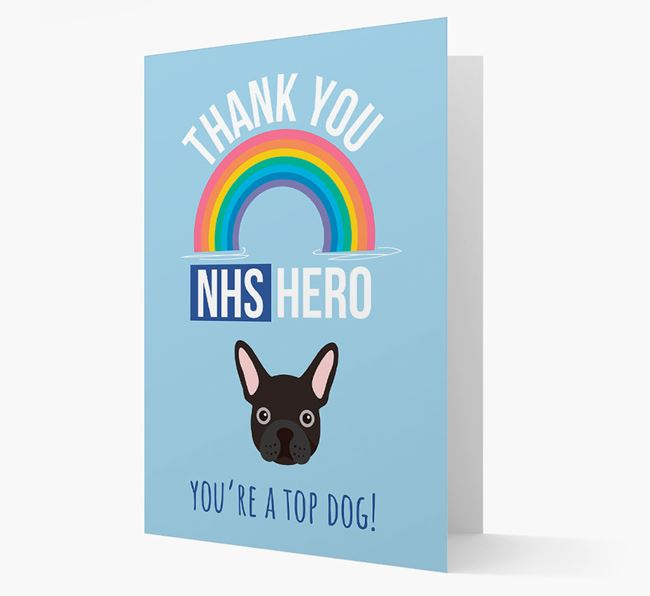 'Thank You NHS Hero' Card with French Bulldog Icon