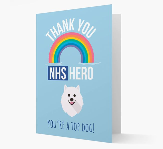 'Thank You NHS Hero' Card with Pomeranian Icon