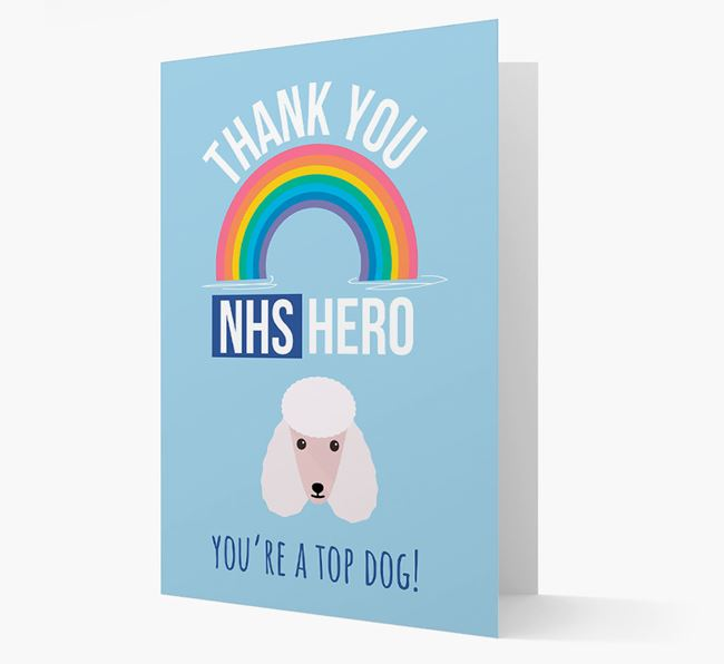 'Thank You NHS Hero' Card with Poodle Icon