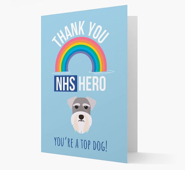 'Thank You NHS Hero' Card with Schnauzer Icon
