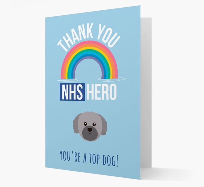 'Thank You NHS Hero' Card with Shih Tzu Icon