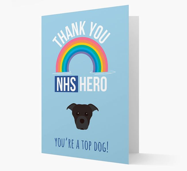 'Thank You NHS Hero' Card with Dog Icon