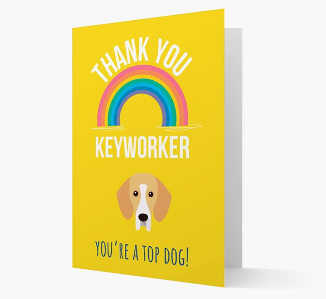 'Thank You Keyworker' Card with Bassador Icon