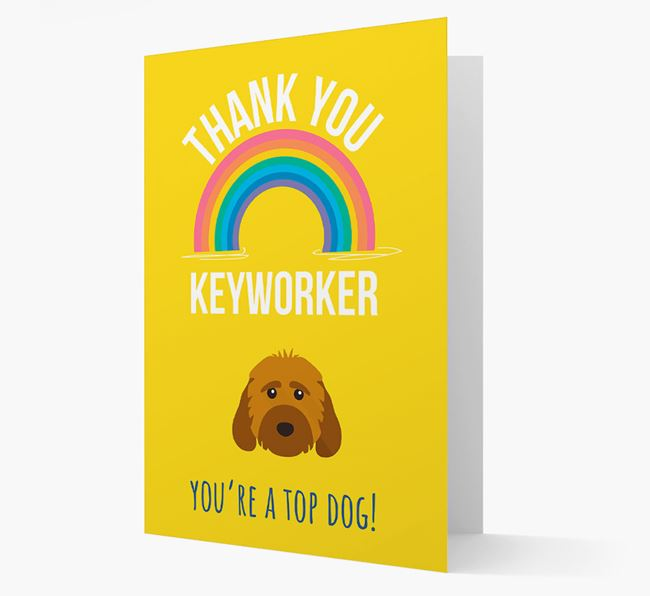 'Thank You Keyworker' Card with Cockapoo Icon