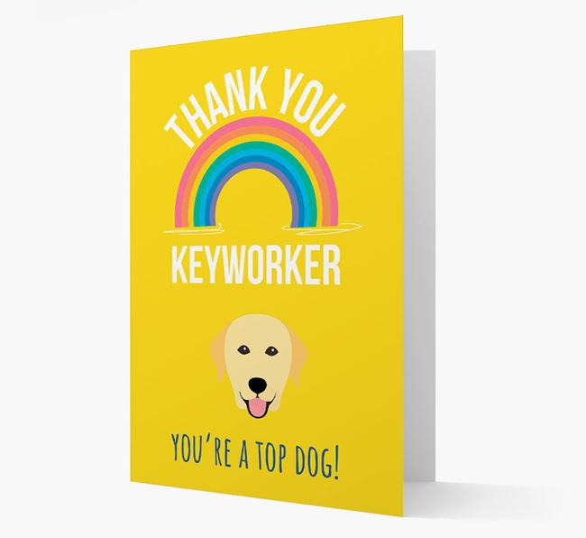 'Thank You Keyworker' Card with Dog Icon