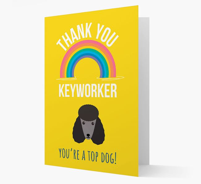 'Thank You Keyworker' Card with Poodle Icon