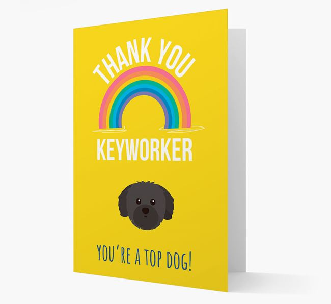 'Thank You Keyworker' Card with Shih Tzu Icon