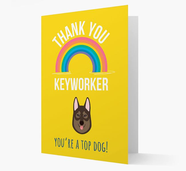 'Thank You Keyworker' Card with Tamaskan Icon