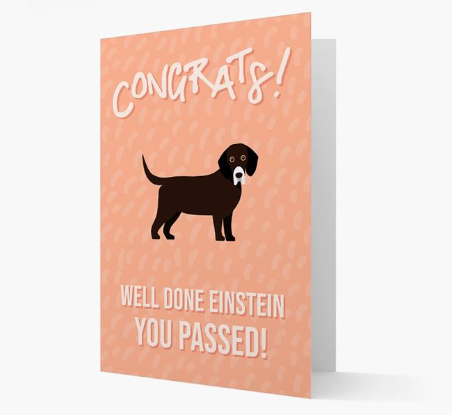 'Congrats! You Passed' Card with Bassador Icon