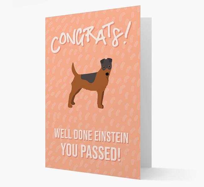 'Congrats! You Passed' Card with Fox Terrier Icon