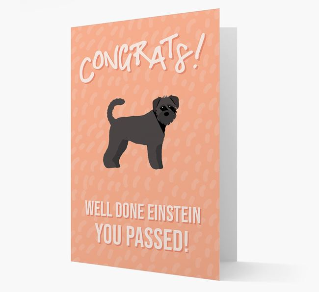 'Congrats! You Passed' Card with Schnoodle Icon