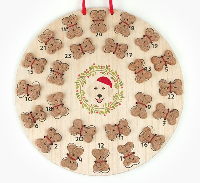 'Christmas Wreath' Advent Calendar - Personalised with your Golden Retriever