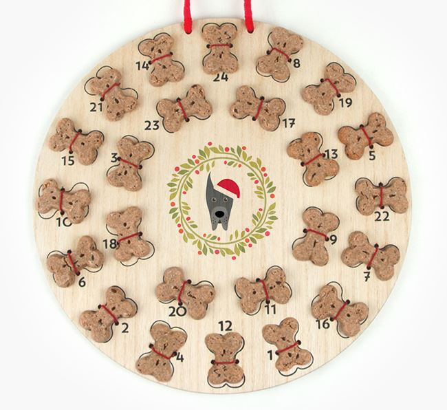 'Christmas Wreath' Advent Calendar - Personalised with your Great Dane