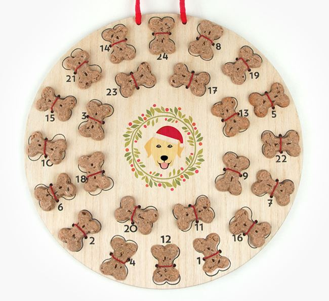 'Christmas Wreath' Advent Calendar - Personalised with your Dog