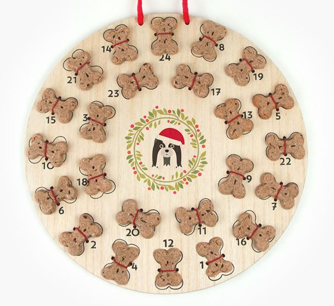 'Christmas Wreath' Advent Calendar - Personalised with your Shih Tzu