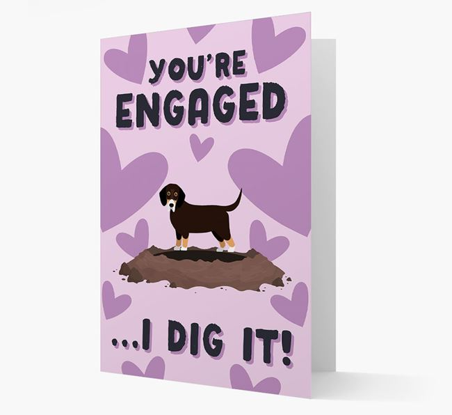 'You're Engaged...I Dig It!' Card with Bassador Icon