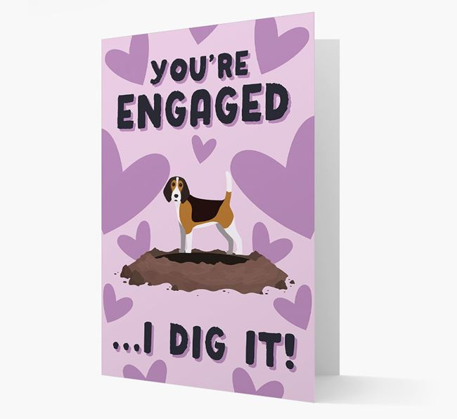 'You're Engaged...I Dig It!' Card with Beagle Icon