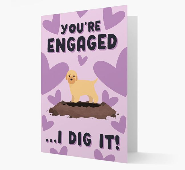 'You're Engaged...I Dig It!' Card with Bich-poo Icon