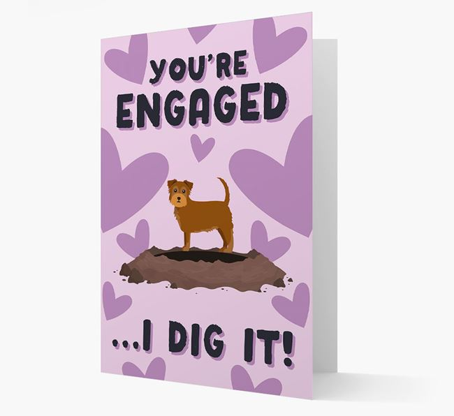 'You're Engaged...I Dig It!' Card with Chorkie Icon