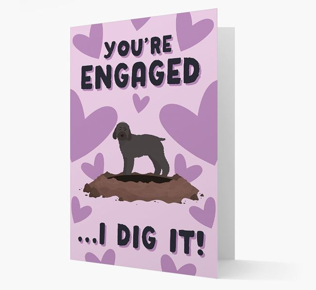 'You're Engaged...I Dig It!' Card with Cockapoo Icon