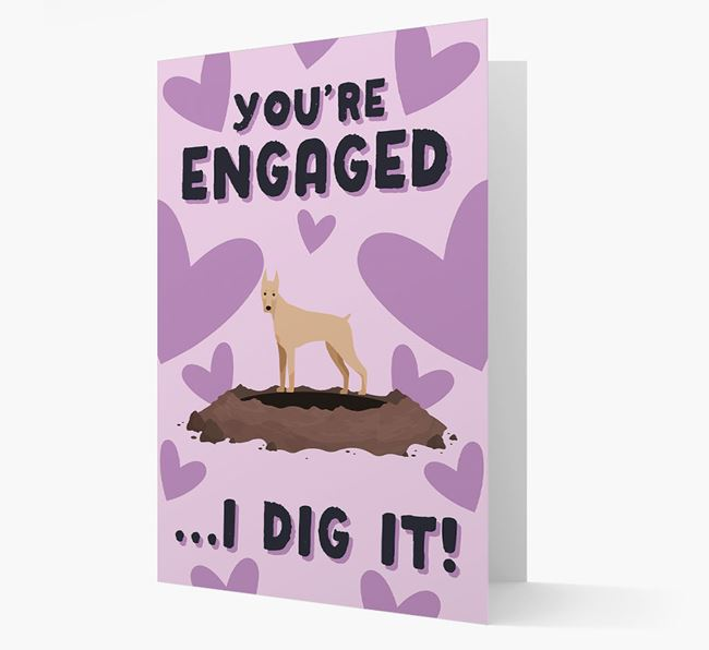 'You're Engaged...I Dig It!' Card with Dobermann Icon