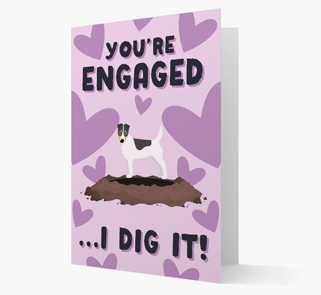'You're Engaged...I Dig It!' Card with Fox Terrier Icon