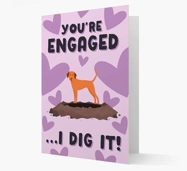 'You're Engaged...I Dig It!' Card with Dog Icon