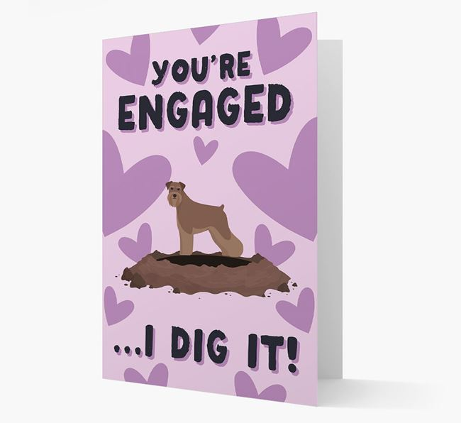 'You're Engaged...I Dig It!' Card with Schnauzer Icon