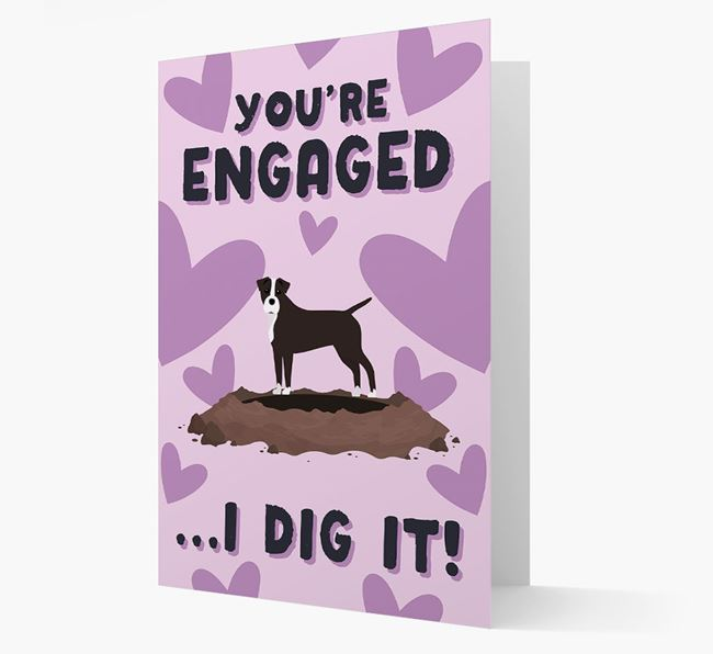 'You're Engaged...I Dig It!' Card with Staffy Jack Icon