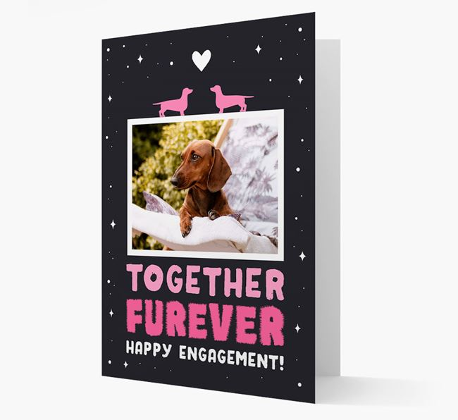 'Together Furever' Engagement Card with Photo of your Dog