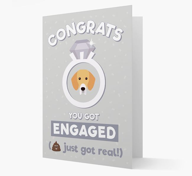'Congrats You Got Engaged' Card with your Bassador Icon