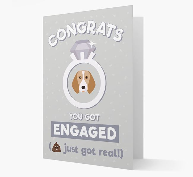 'Congrats You Got Engaged' Card with your Beagle Icon