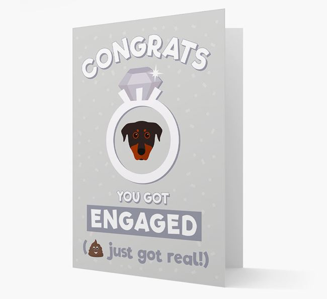 'Congrats You Got Engaged' Card with your Beauceron Icon