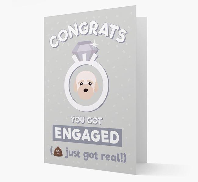 'Congrats You Got Engaged' Card with your Bich-poo Icon
