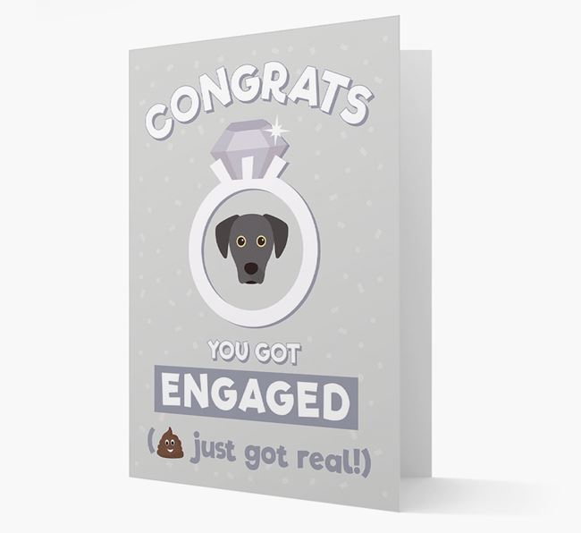 'Congrats You Got Engaged' Card with your Blue Lacy Icon