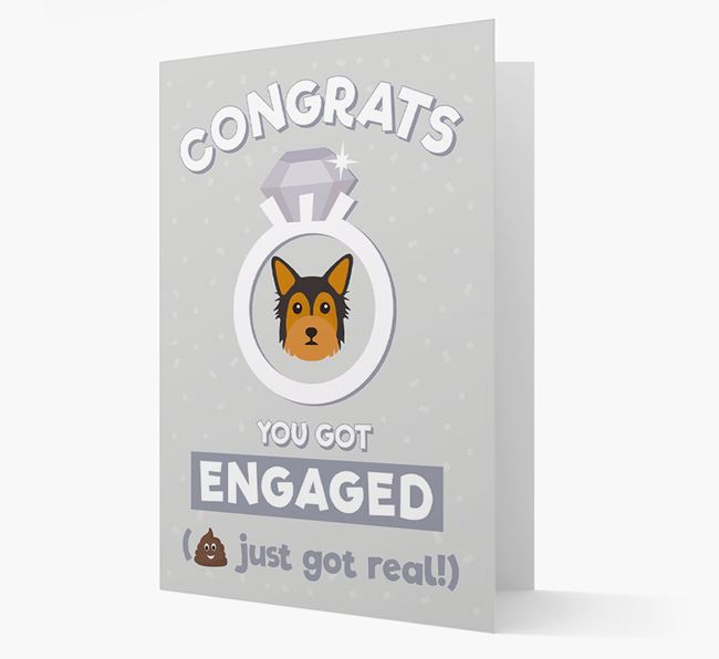 'Congrats You Got Engaged' Card with your Chorkie Icon